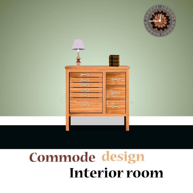 Иллюстрация Commode иллюстрация вектора