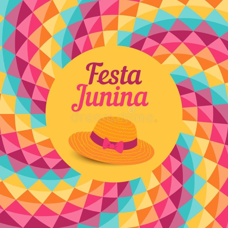 Иллюстрация Festa Junina - фестиваль Бразилии июня иллюстрация вектора