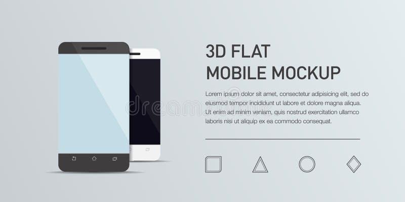 Иллюстрация Minimalistic плоская мобильного телефона Smartphone модель-макета родовой бесплатная иллюстрация