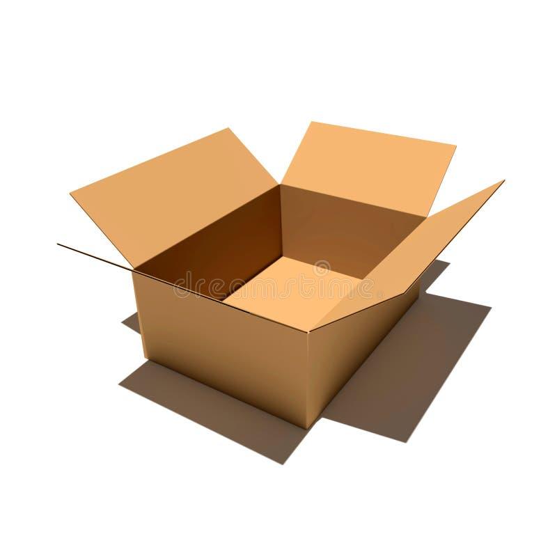 Иллюстрация renderer коробки 3d коробки стоковые изображения
