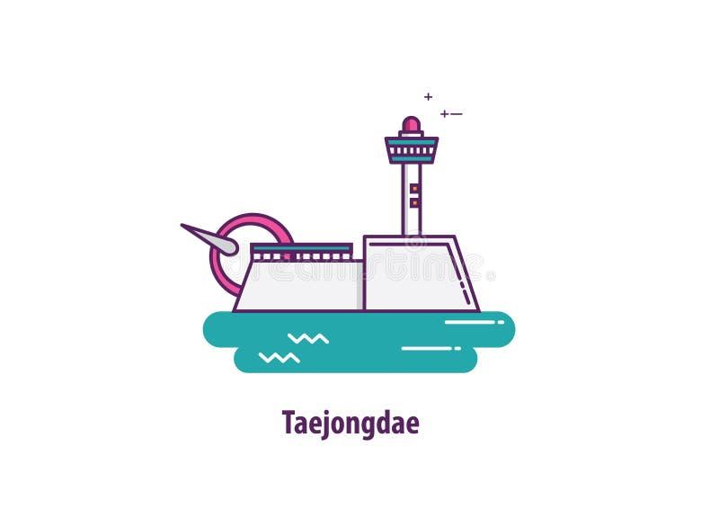 Иллюстрация Taejongdae в Южной Корее стоковые изображения
