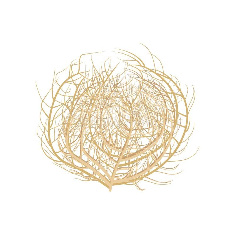 Иллюстрация Tumbleweed стоковые изображения