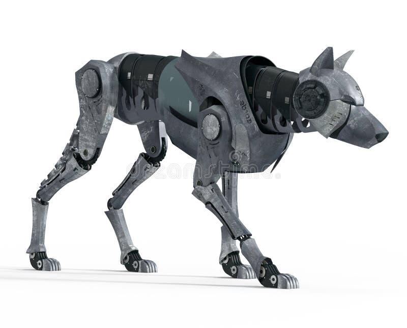 Идя вид спереди робота волка иллюстрация штока