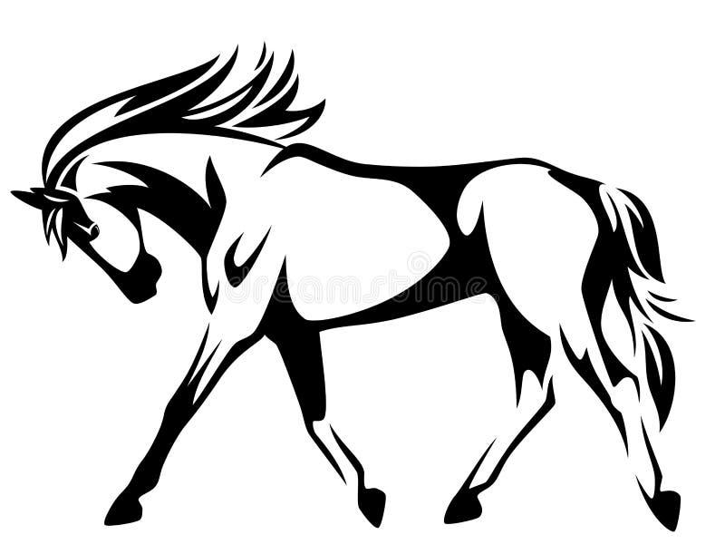 Идя рысью лошадь иллюстрация штока