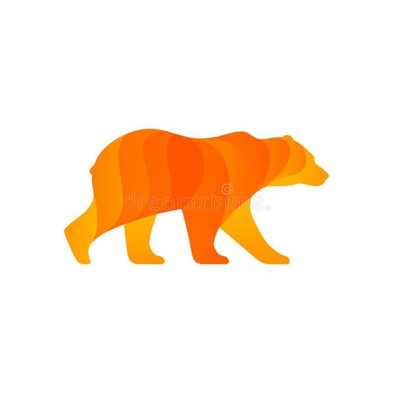 Идя силуэт медведя пристаньте вектор к берегу кассеты иллюстрации девушки цвета читая песочный иллюстрация штока