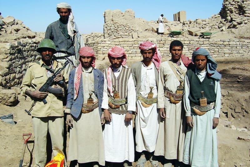Йеменская команда стоковое изображение