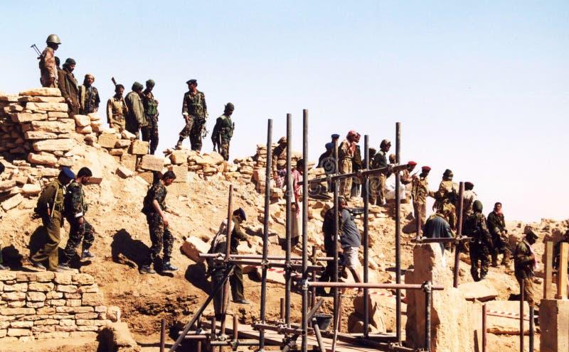 Йеменские солдаты стоковое изображение rf