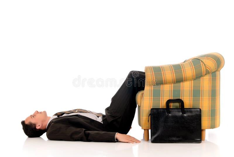 йога бизнесмена meditating стоковое фото