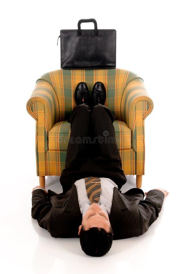 йога бизнесмена meditating стоковая фотография rf