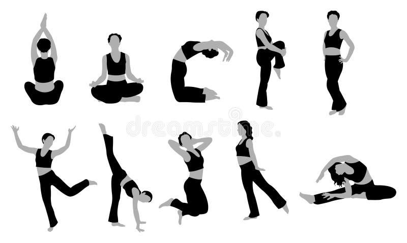 йога вектора девушки иллюстрация штока