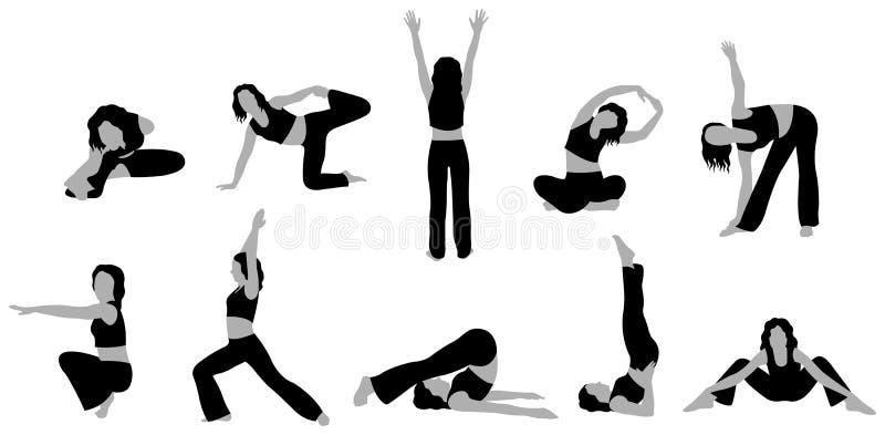 йога вектора 3 девушок бесплатная иллюстрация