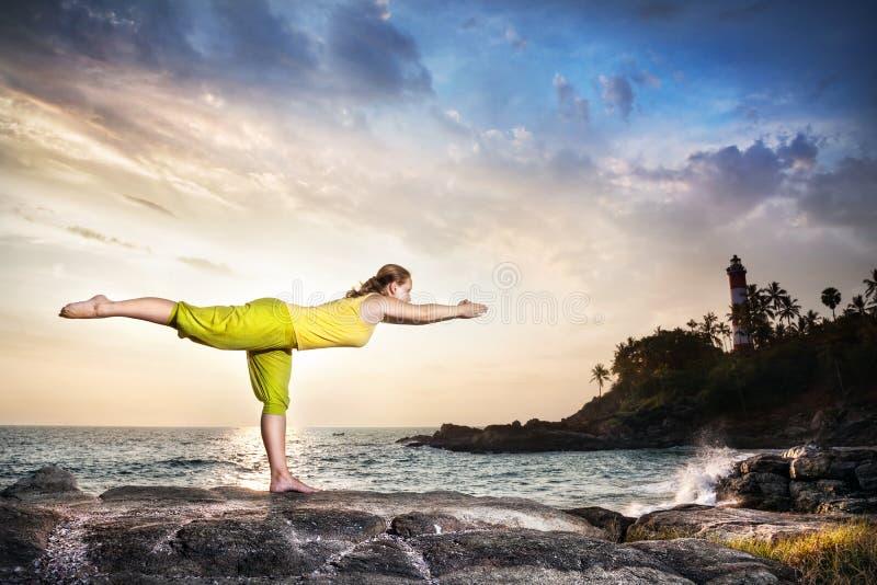 Йога в Индии стоковое фото rf