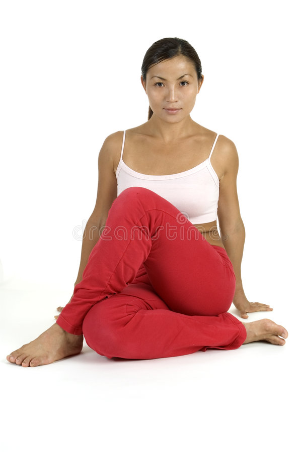 йога инструктора стоковое фото rf