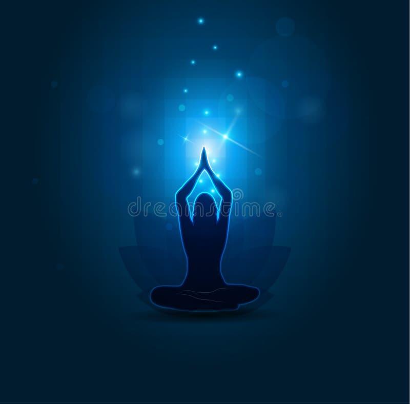 Йога и раздумье женщины бесплатная иллюстрация