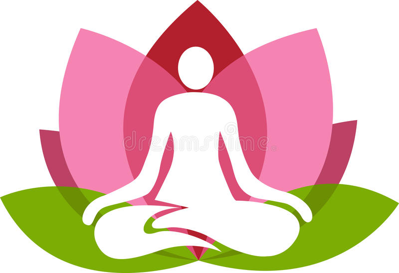 йога лотоса иллюстрация вектора