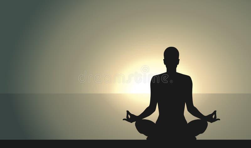 Йога на взморье бесплатная иллюстрация