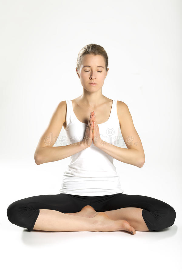 Йога 08 практики женщины стоковые фотографии rf