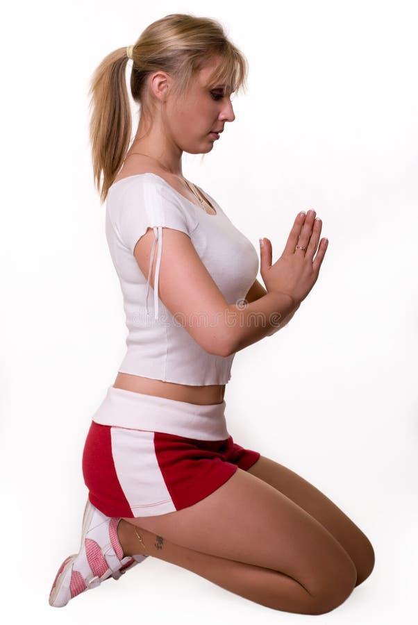 йога представления стоковое фото