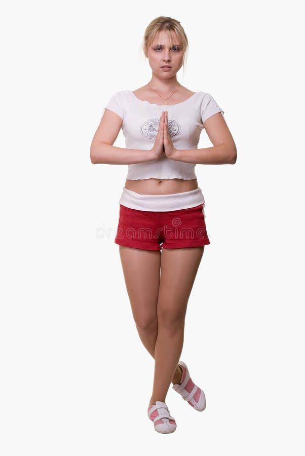 йога представления стоковая фотография
