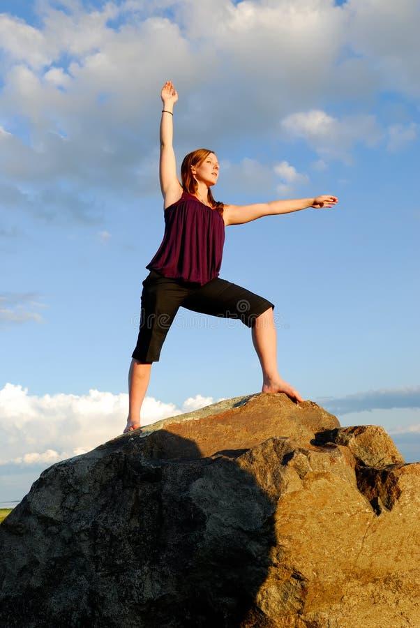 йога представления стоковое изображение
