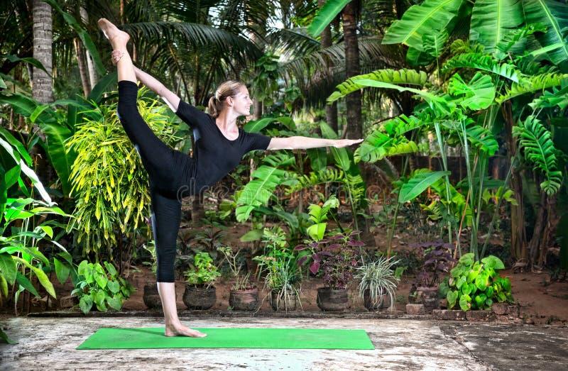 йога представления natarajasana танцора стоковое фото
