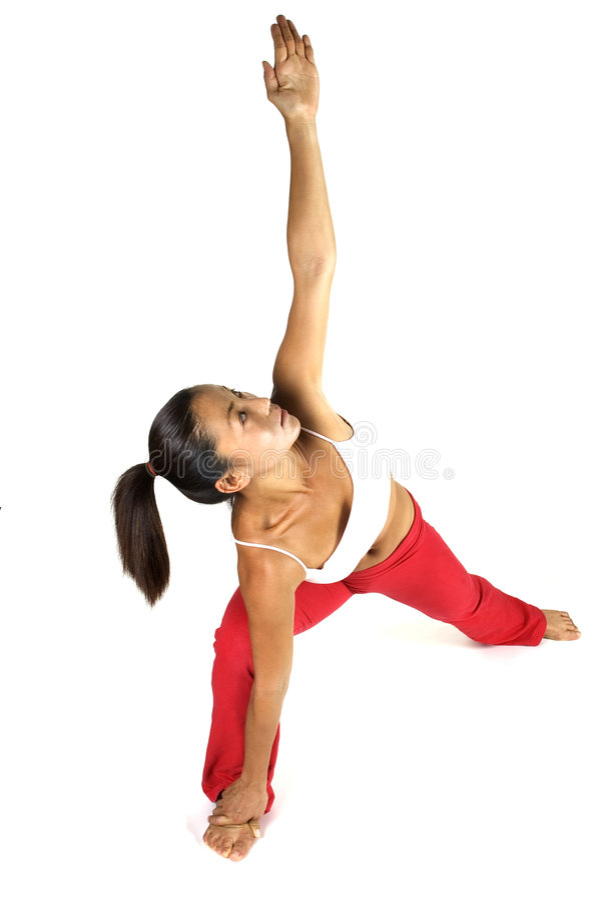 йога простирания стоковая фотография rf