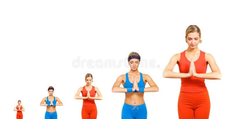 йога развития стоковая фотография