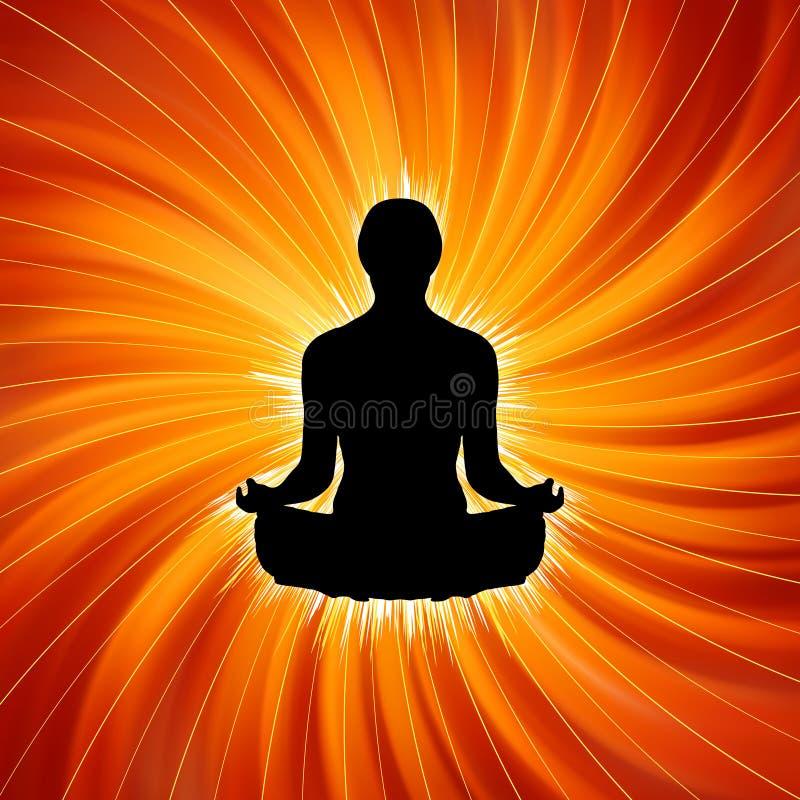 йога силы раздумья 8 eps иллюстрация вектора