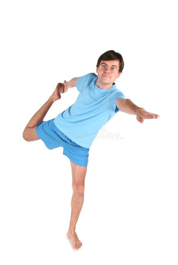йога человека одного ноги стоковые фото
