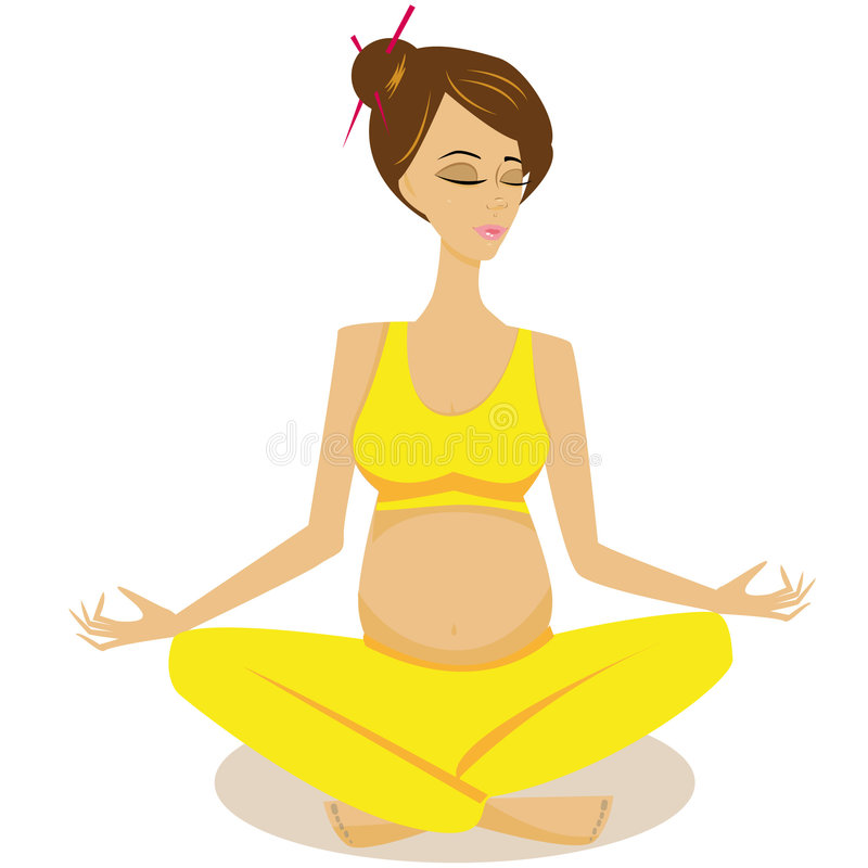 йога 3 иллюстрация штока