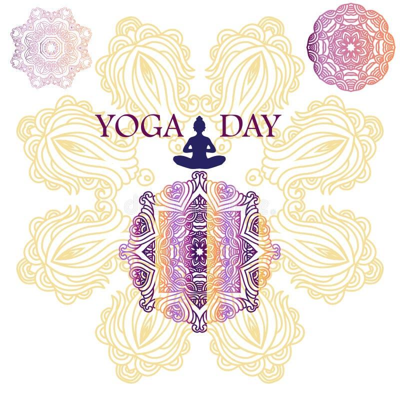 Йога day5 иллюстрация вектора