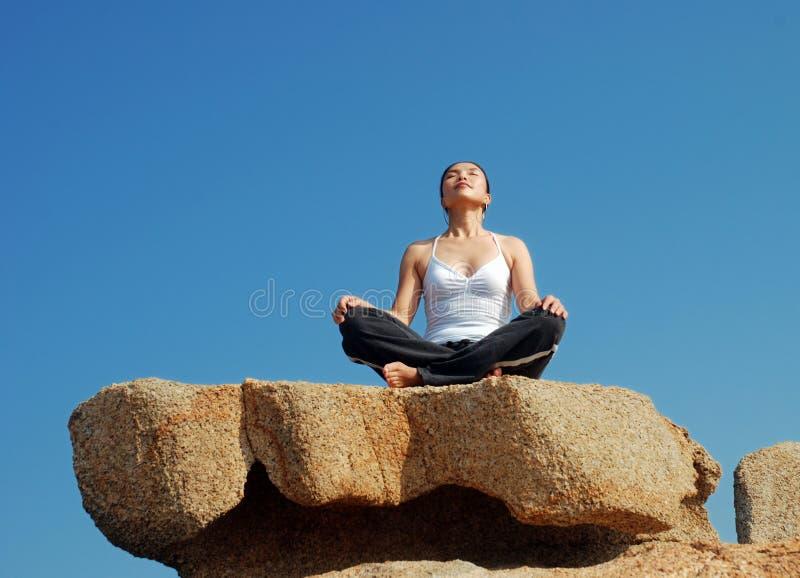 йога exerciser стоковая фотография rf