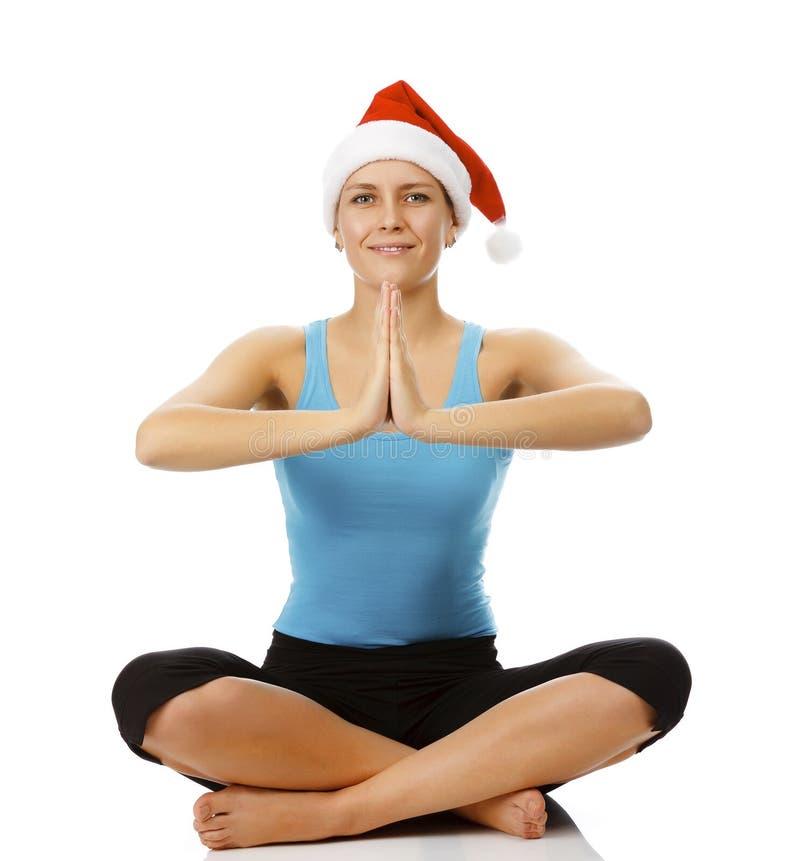 йога santa стоковое изображение