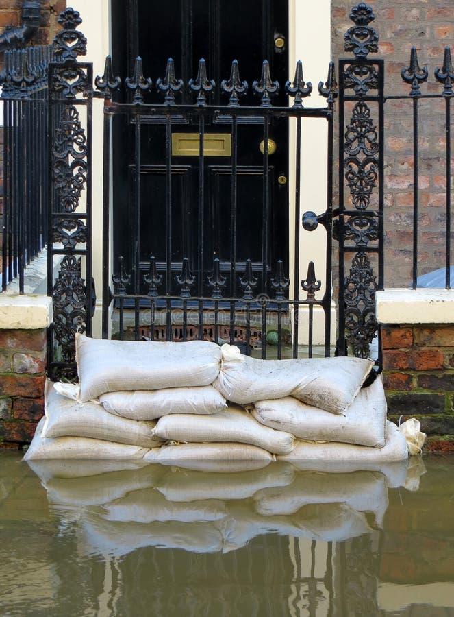 Йорк затопило улицу стоковая фотография rf