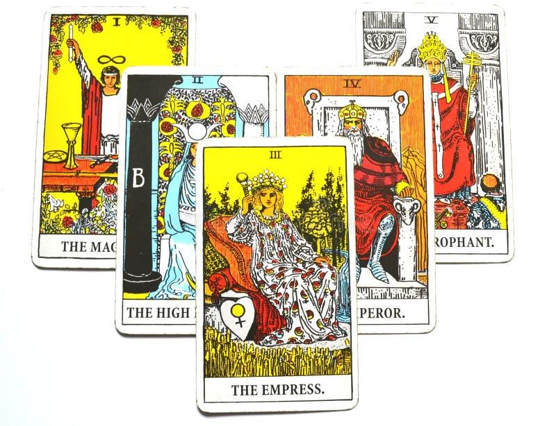 Кабала карточки Tarot дьявола, заманчивость, порабощение, материализм, наркомании иллюстрация вектора
