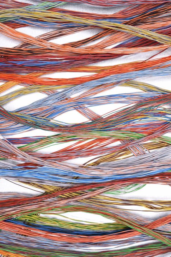 Кабели и провода электрической сети стоковые фотографии rf