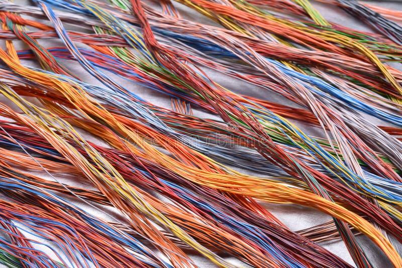 Кабели и провода электрической сети стоковое изображение rf