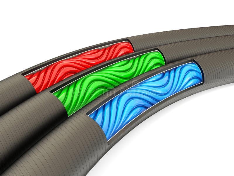 кабели иллюстрация вектора