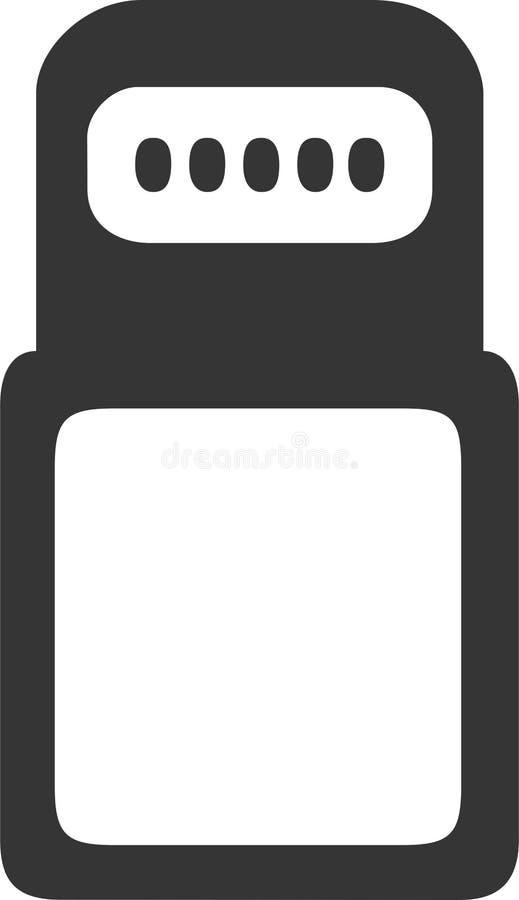 Кабельная фишка молнии IPhone - данные и поручать иллюстрация вектора