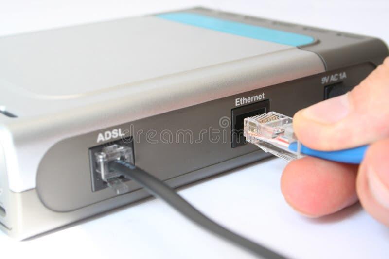 кабельное соединение стоковое изображение