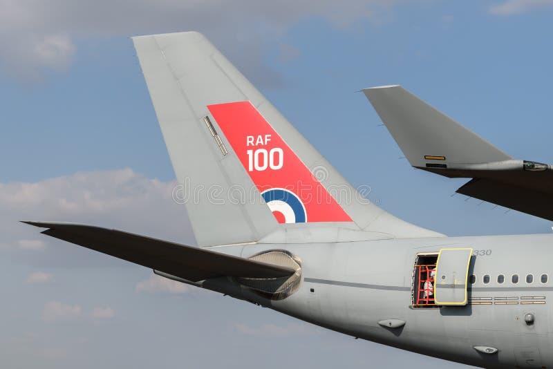 Кабель топливозаправщика воздушных судн Voyager военно-воздушных сил Великобритании стоковое изображение
