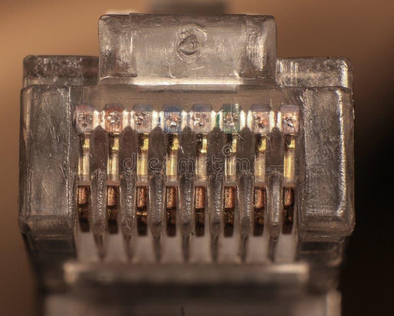 Кабель ethernet поднимает домкратом в стиле marco стоковые изображения