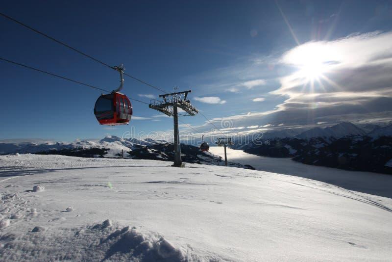 Кабина лыжи стоковые изображения rf
