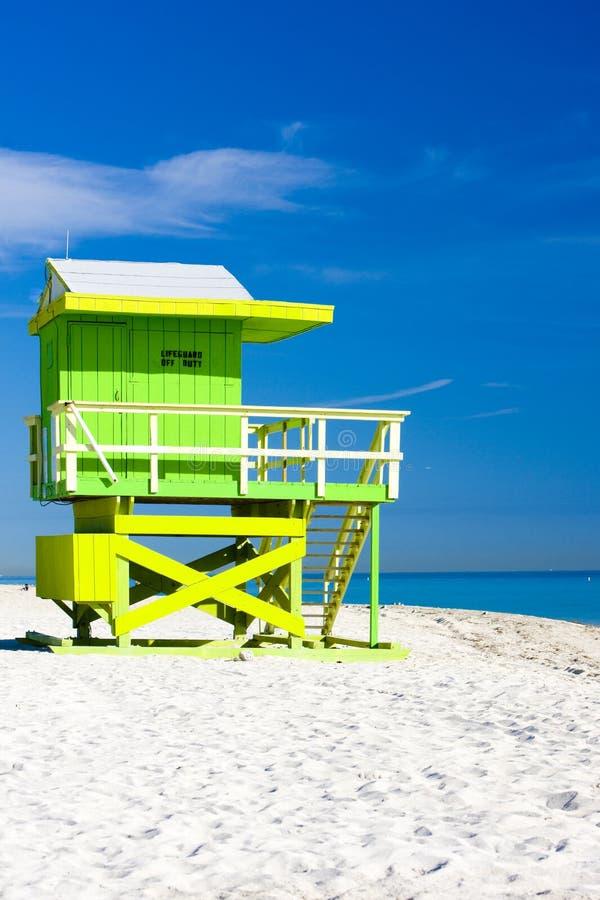 кабина пляжа стоковое изображение rf