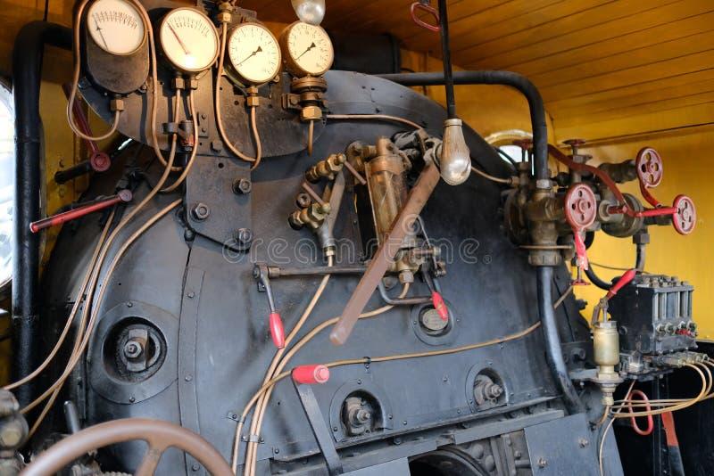 Кабина поезда поездов пара стоковое фото rf
