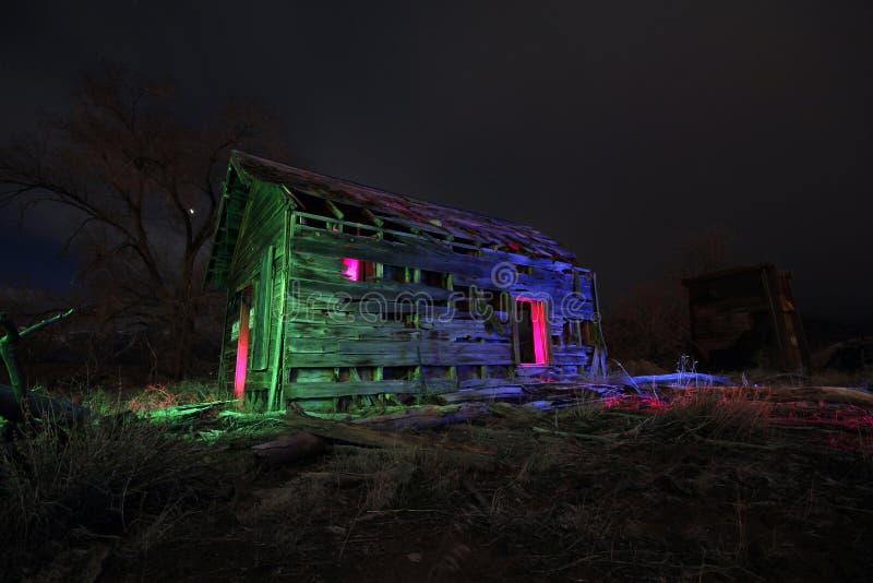 Кабина покрашенная светом стоковое фото