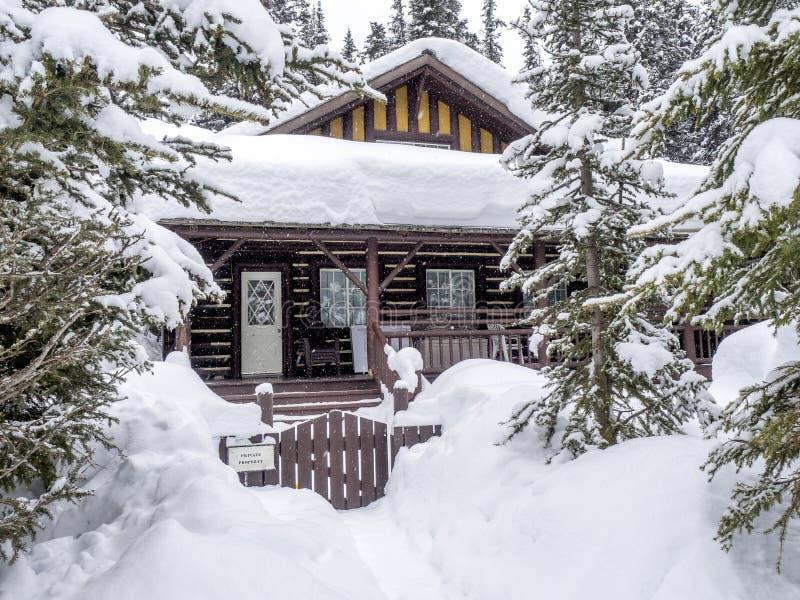 кабина покрыла снежок стоковое фото