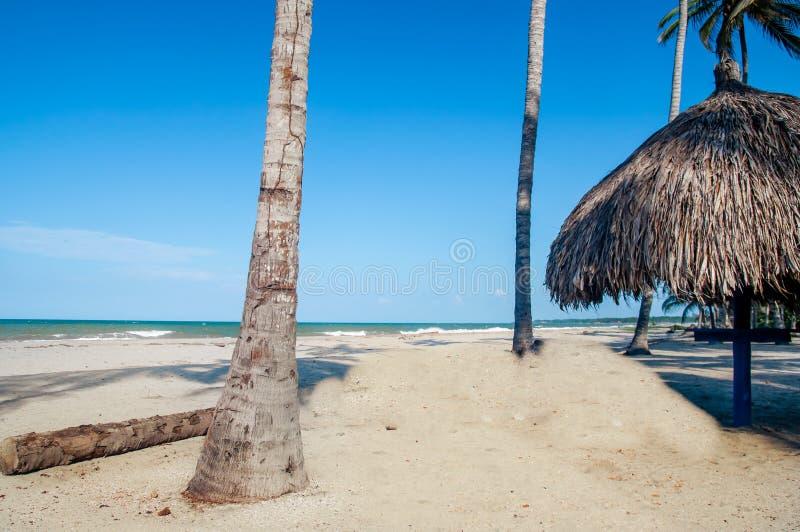 Кабина пляжа Palomino в Колумбии стоковое фото