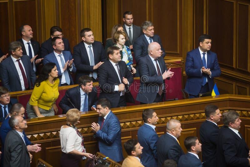 Кабинет министров Украины в Verkhovna Rada стоковое изображение