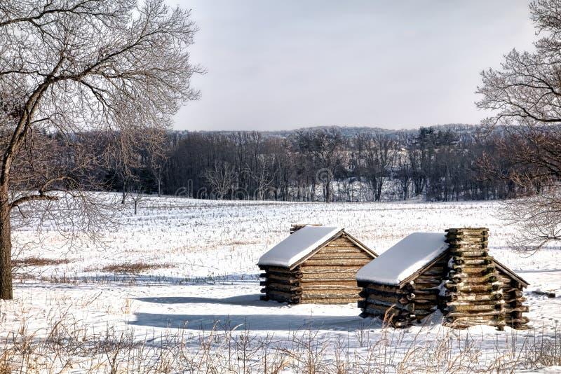 Кабины лагеря снабжения жилищем на национальном парке кузницы долины стоковая фотография rf